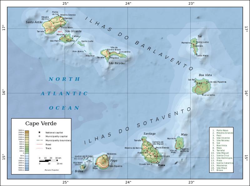 Wo Liegt Kapverden Karte.Kapverden Info Eco Dive School Cabo Verde